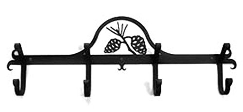 Iron Coat Rack-Towel Rack Bar Pinecone - 24