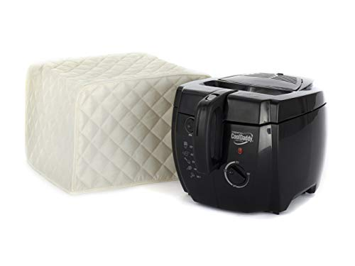 15h Storage - Covermates - Deep Fryer Cover - 17W x 11D x 15H - Diamond Collection - 2 YR Warranty - Year Around Protection - Cream