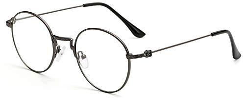 受け皿うめき声器用Bocoss - 女性メンズゴーグルoculosデGRAUについてはクリアレンズユニセックスメガネフレームのレトロなヴィンテージメタルアイガラスフレームと丸眼鏡