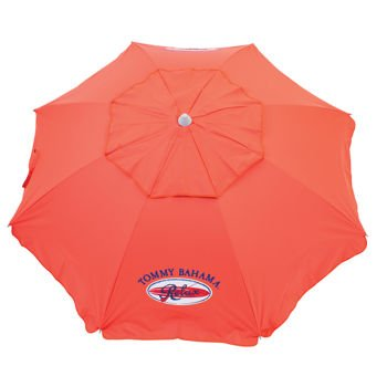 Tommy Bahama Sand Anchor 7 feet Beach Umbrella With Tilt and Telescoping Pole- Red by Tommy Bahama