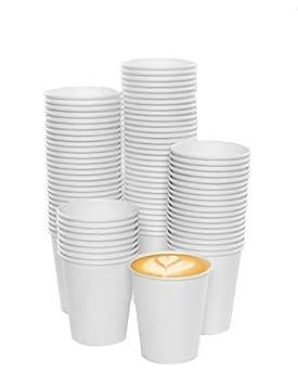 73e26592e8 Lot 100 Gobelets Carton écologique 6.5 oz - 100pcs Paper Cups for Hot/Cold  Drinks