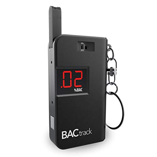 (BACtrack Keychain Breathalyzer Portable Keyring Breath Alcohol Tester, Black)