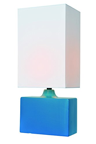 Lite Source LS-22378AQUA Kara Ceramic Table Lamp, Aqua, Aqua