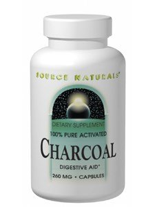 Source Naturals Charcoal 100% Pure Activated, 260mg, 100 Capsules