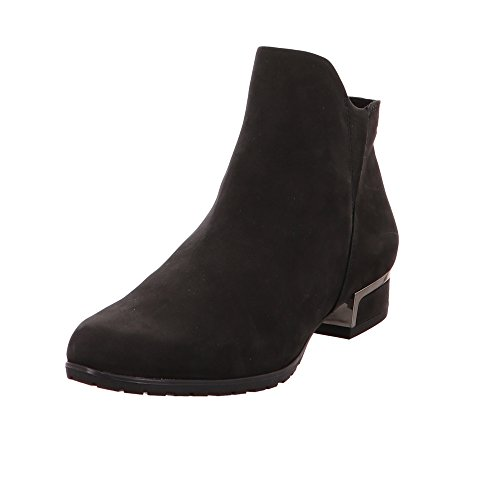 Caprice Damen 25335 Schwarze Nubuk-Leder Stiefeletten Black