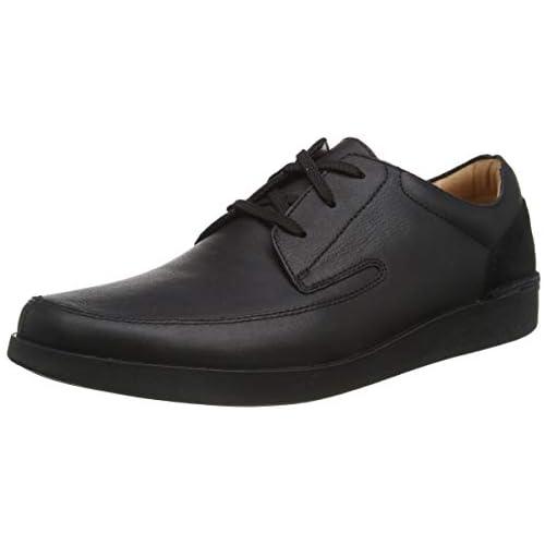 chollos oferta descuentos barato Clarks Oakland Craft Zapatos de Cordones Derby Hombre Negro Black Leather Black Leather 43 EU