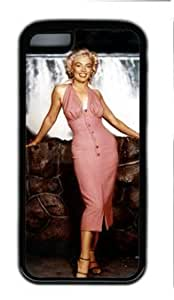 CSKFUAmerica Famous Actress Marilyn Monroe Elegance Customized Rubber Black iphone 6 4.7 inch iphone 6 4.7 inch Case By atmyshop