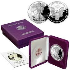 (1988 S American Silver Eagle With Velvet Box & COA .999 Fine Silver $1 Proof US Mint)