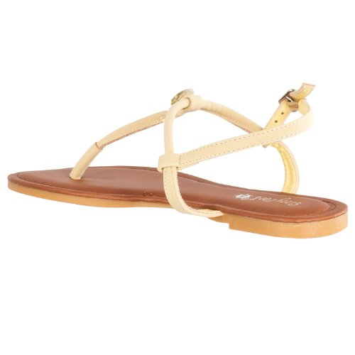 Bamboo Womens Morris Rhinestone-embellished T-strap Sandals Lemon v5xfvusN
