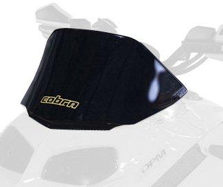 Rev Doo Windshield Ski - PowerMadd 13021 Cobra Windshield for Ski Doo Rev - Black - Low height