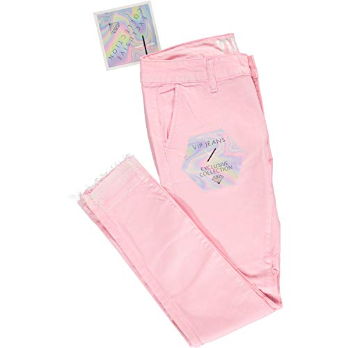 Ultra Skinny Day or Evening Soft Stretch Jeans Pants for Women Junior Size 11 Blush Pink ()