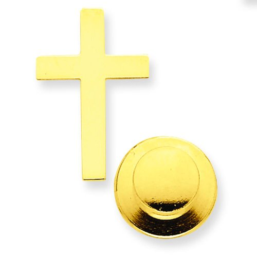 14K Yellow Gold Cross Tie Tac Lapel Pin Jewelry 14k Yellow Tie Pin