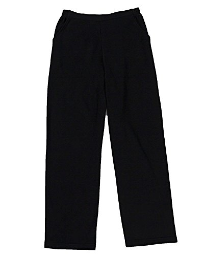 UltraSofts Flat Front Pants, Black, Petite (Elastic Waist Petite Knit Pants)