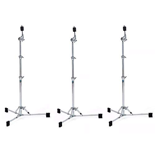 Ludwig Atlas Classic Flat Base Straight Cymbal Stand (3 Pack Bundle)