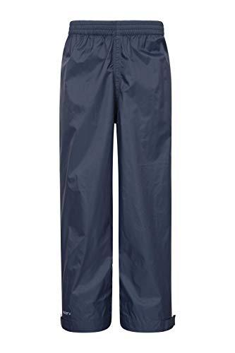 Mountain Warehouse Pakka Kids Rain Pants - Waterproof Overpants Navy 5-6 ()