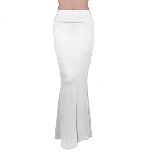 Crayon Maxi Blanc Femme Extensible Moulant lastique Jupe Soire Longue Longue ZEARO Jupe Haute Taille Cocktail tw4xp6q