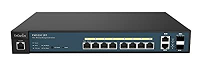 EnGenius Neutron EWS2910P 8 Port Managed Gigabit Poe Switch, 61.6W