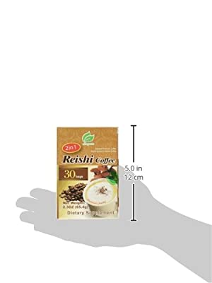 Reishi Coffee 2 in 1, Selected Premium Coffee, Reishi Extract and Instant Coffee, 30 Bags Per Box by Longreen
