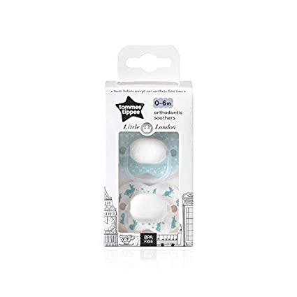 Tommee Tippee Little London: 2 x Chupete 0-6m (Conejo ...