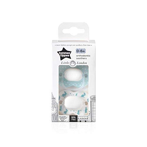 Tommee Tippee Little London Lapin 2 x Sucette 0-6m