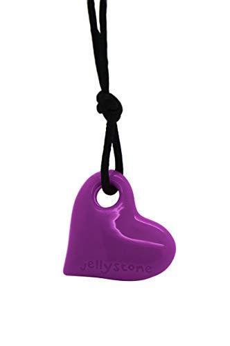 Jellystone Junior Heart Pendant Silicone Non-Toxic Chewelry Necklace (Purple (Grapes Pendant Necklace)