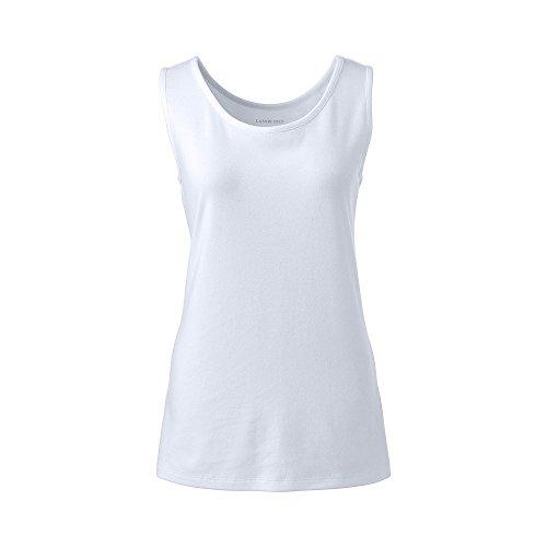 Cotton Petite Tank Top (Lands' End 3753567 Women's Petite Cotton Tank Top, XL, White)