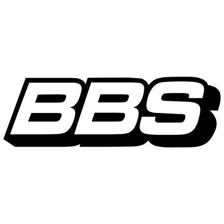 BLACK BBS LOGO DECAL WINDOW NEW STICKER