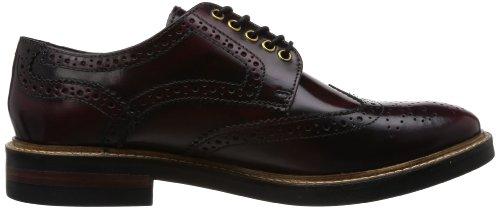 Base London Mens Woburn Leather Lace Up Brogue Shoe (PI06532) Bordo uYfdQX9PoZ