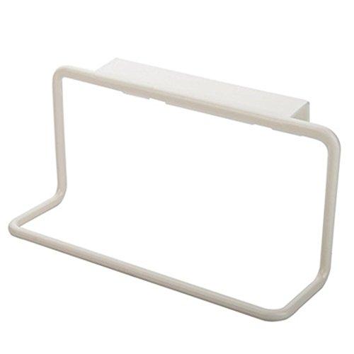 Towel Rack Hanging Holder Euone Organizer Bathroom Kitchen Cabinet Cupboard Hanger (White) from Euone®