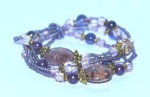 5 Row Venetian Beaded Bracelets Bangle