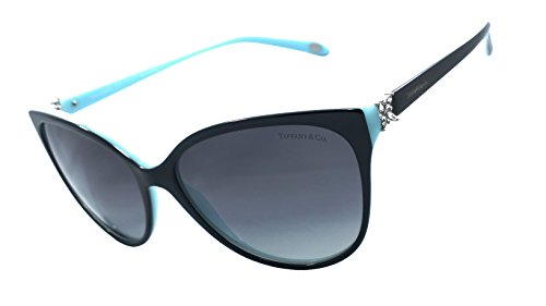 Tiffany & Co. Tf4089b 100% Authentic Limited Edition Women's Polarized Sunglasses Black / Blue 8055/t3 (Tiffany Victoria)