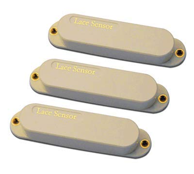 Lace Sensor Gold Stratocaster Electric Guitar Single Coil Pickups, 3-Pack - (Cream)