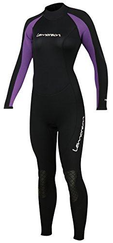 Lemorecn Women Wetsuits Neoprene 3/2mm Full Body Diving - Female Wetsuit