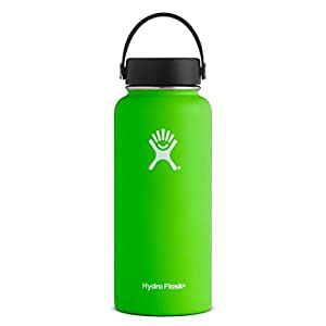 Hydro Flask 18 oz Double Wall Vacuum Insulated Stainless Steel Leak Proof Sports Water Bottle, Wide Mouth with BPA Free Flex Cap, Kiwi