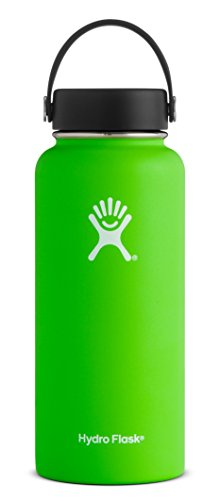 Hydro Flask 32 oz Vacuum Insulated Stainless Steel Water Bottle, Wide Mouth w/Flex Cap, Kiwi