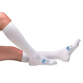 c783ce5af7 Ted Anti-embolism Stockings Knee Length Open Toe, White, Small/Regular  Length