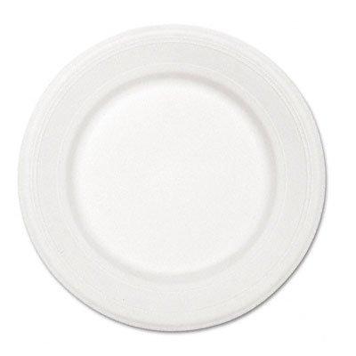 Chinet VENTURE-CT Paper Dinnerware- Plate- 10-1/2quot; Diameter- White- 500/Carton by Chinet