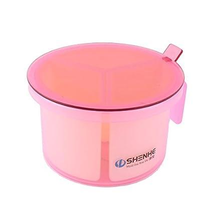 eDealMax plástico Domésticos de Cocina 3 compartimientos condimento Box Contenedor Condimentos Especias Caja rosada