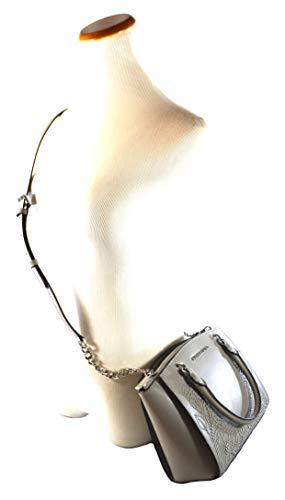 80c21e6aec327e Michael Kors Women's Ellis Small Convertible Leather Gold Toned Studs Satchel  Crossbody Bag Purse Handbag (