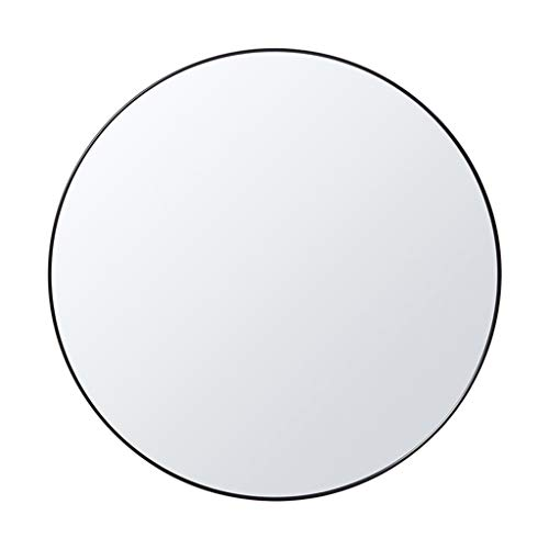 - Vanity Mirror Bathroom Wall Mount Mirrors丨Black Metal Frame Bedroom Round Shaving/Dressing/Decor/Makeup Mirrors(Diameter 20-28 Inch)