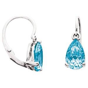 So Chic Bijoux © Boucles d'oreilles Femme Brisures Goutte Topaze Bleu Or Blanc 750/000 (18 carats)