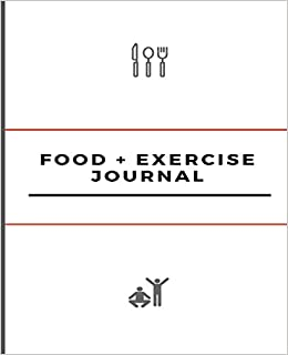 food and exercise journal 7 5 x 9 25 undated 100 page journal