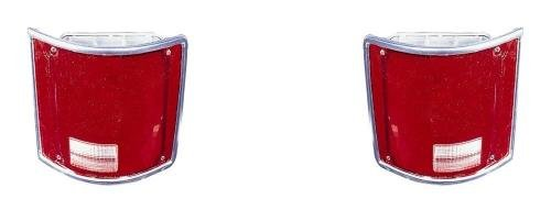 (Go-Parts PAIR/SET OE Replacement for 1973-1987 Chevrolet (Chevy) C + K Pickup Rear Tail Lights Lamps Assemblies/Lens / Cover - Left & Right (Driver & Passenger) for Chevrolet Pickup)