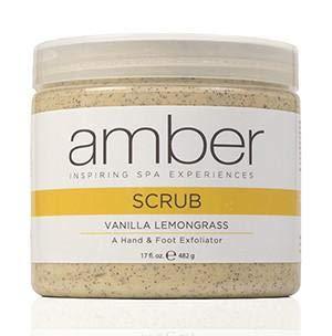 (Amber Manicure & Pedicure Vanilla Lemongrass Hand & Foot Scrub 17 oz)