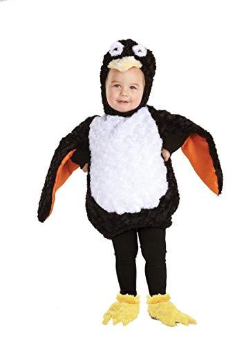 Underwraps Babys Penguin Belly Black/White