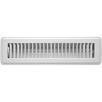 Accord ABFRWH212 Floor Register with Louvered Design, 2-Inch x 12-Inch(Duct Opening Measurements), White