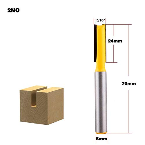 (1 piece 1pc 8mm Shank wood router bit Straight end mill trimmer cleaning flush trim corner round cove box bits tools Milling Cutter)