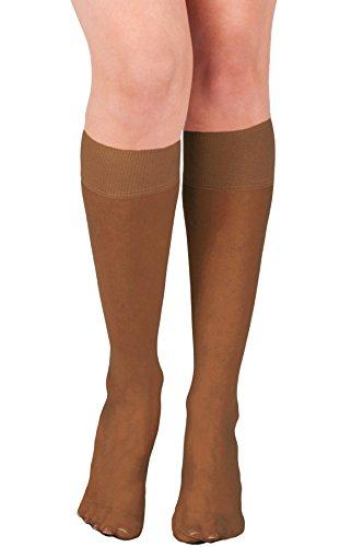 KMystic Womens Trouser Socks Knee High (Brown) ()