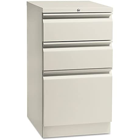 HON 18720RQ Flagship Mobile Box File Pedestal With Full Radius Pull 19 87 Inch Light Gray