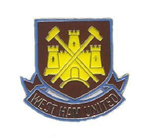 West Ham United Fc Official Metal Crest Pin Badge